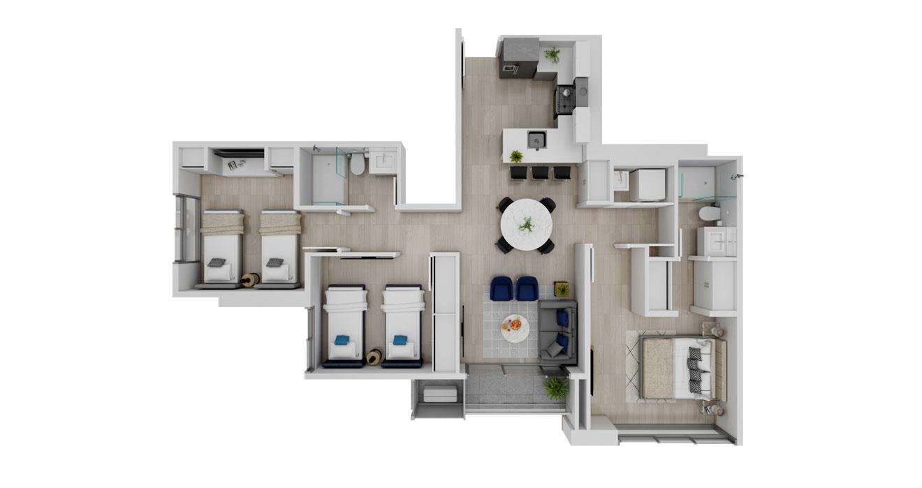 Balcony - Apartamento A - Vista superior