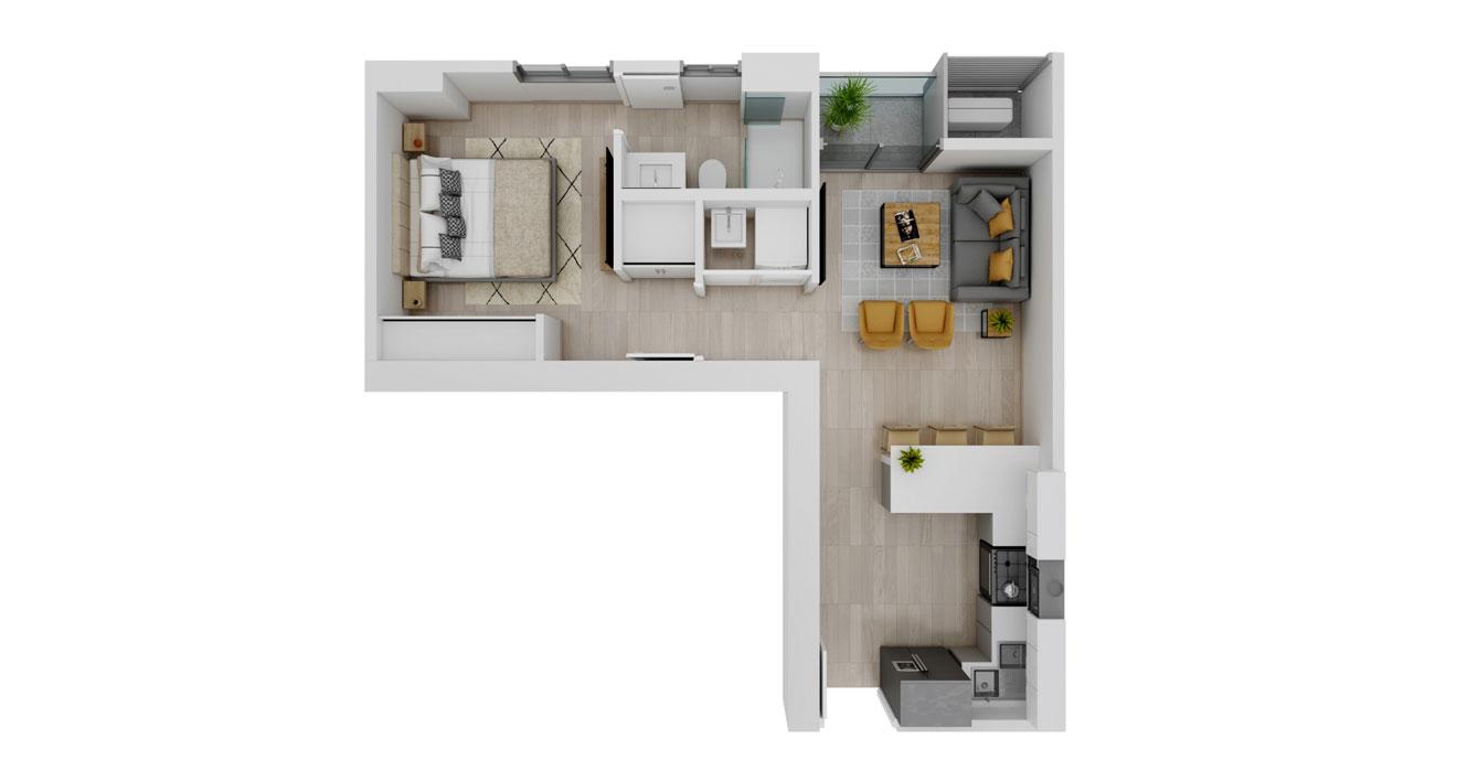 Balcony - Apartamento D - Vista superior