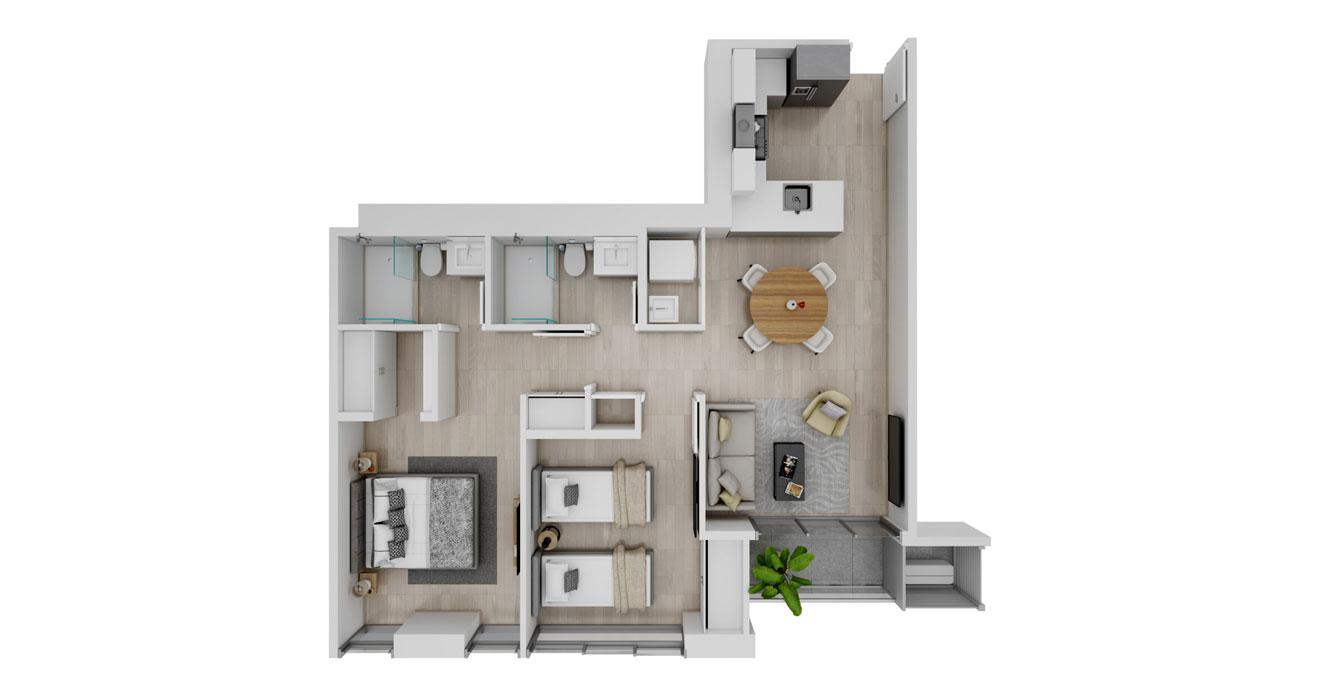 Balcony - Apartamento G - Vista superior